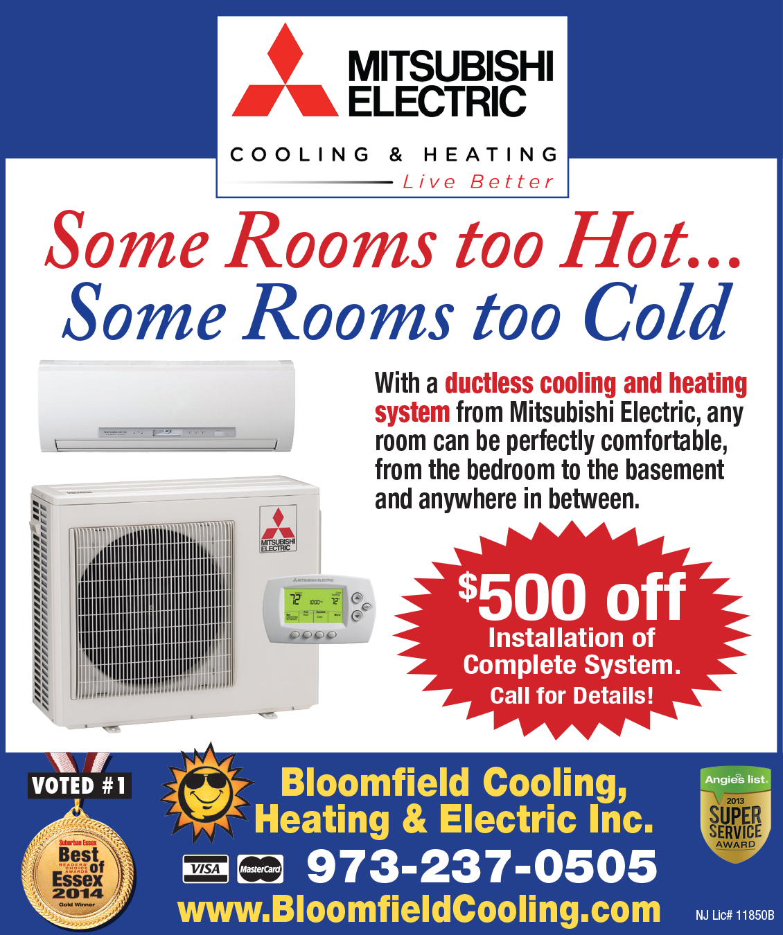 Bloomfield Cooling Ductless Cooling and Heating