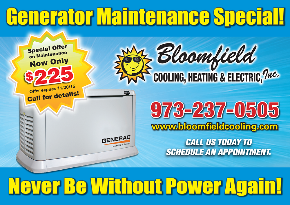 Generator repair service & maintenance passaic county nj