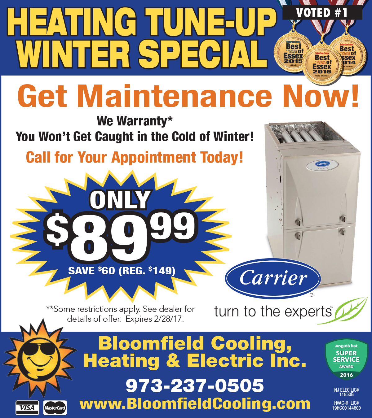 Heating Tune-up Special - Bloomfield Cooling