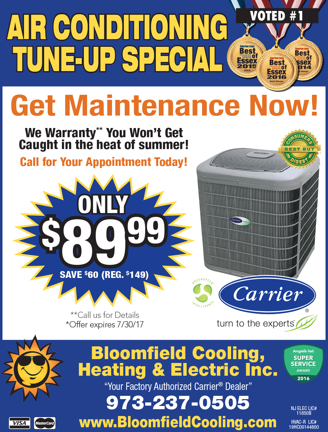 Air Conditioning Tune-up Special - Bloomfield Cooling Spring 2017