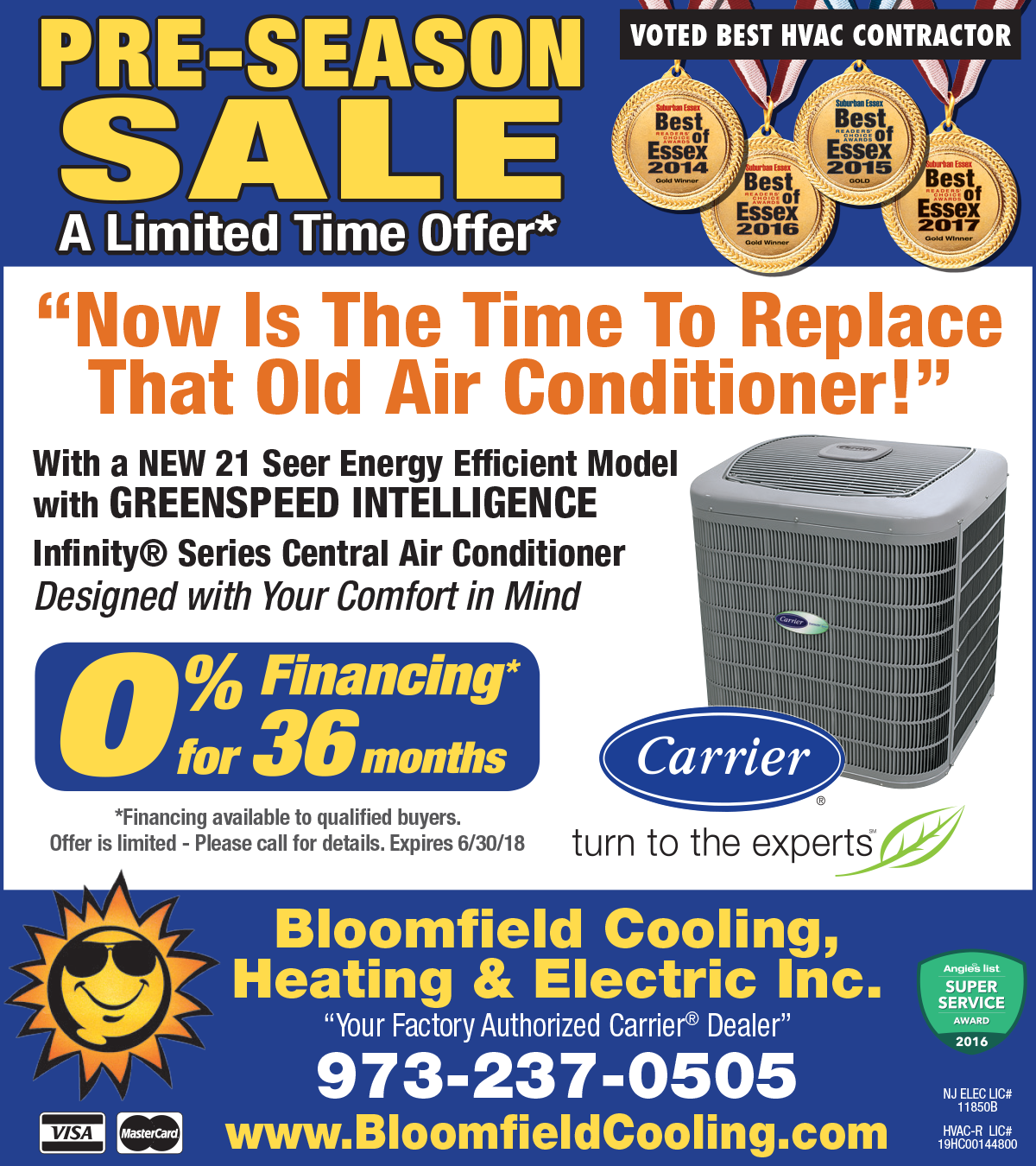 Air Conditioning Tune-up Special - Bloomfield Cooling Spring 2018