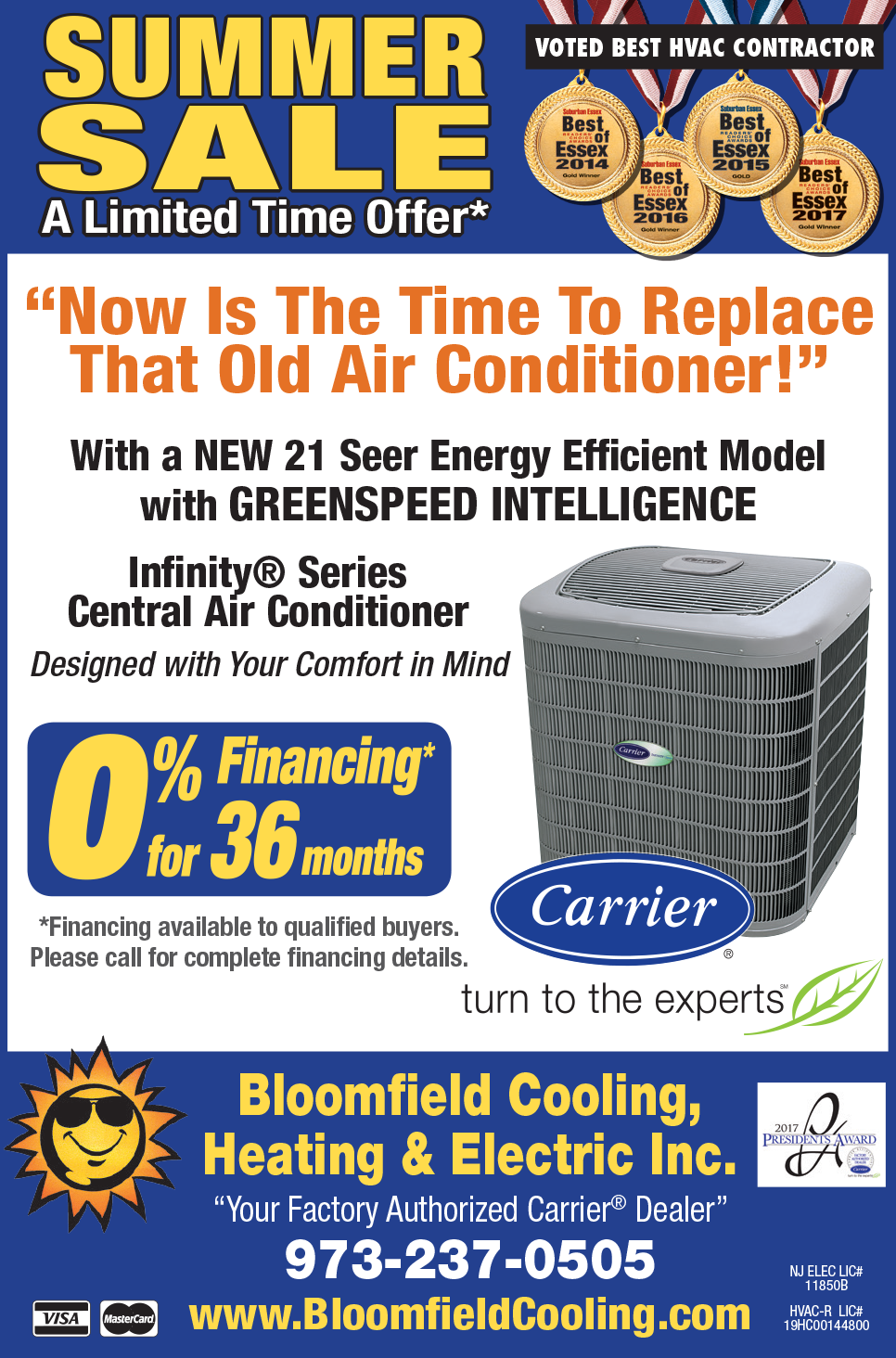Air Conditioning Tune-up Special - Bloomfield Cooling Summer 2018